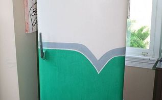 1950 s retro fridge makeover, appliances, diy, home decor, painting, repurposing upcycling, After