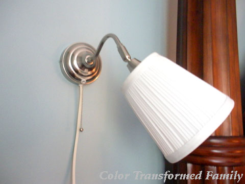 Wall sconces from IKEA