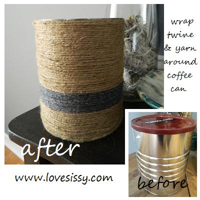 quick amp easy coffee can makeover, crafts, repurposing upcycling