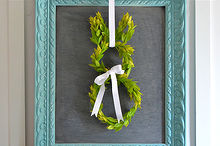 how to make a bunny boxwood wreath, crafts, easter decorations, seasonal holiday decor, wreaths