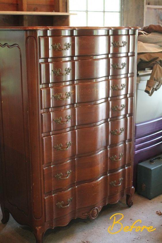 revive an antique dresser, painted furniture