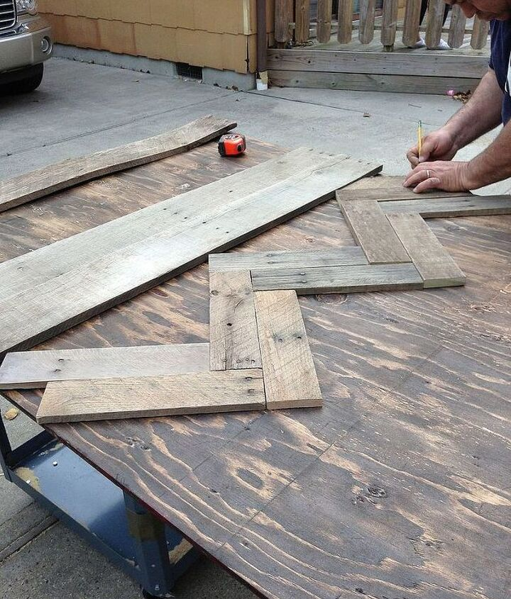 diy pallet hallway tree, diy, pallet, repurposing upcycling, woodworking projects, Started our pattern