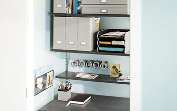 8 organizational stragetes to give you the urge to purge get started, cleaning tips, organizing, storage ideas, Turn an unused closet into an office space