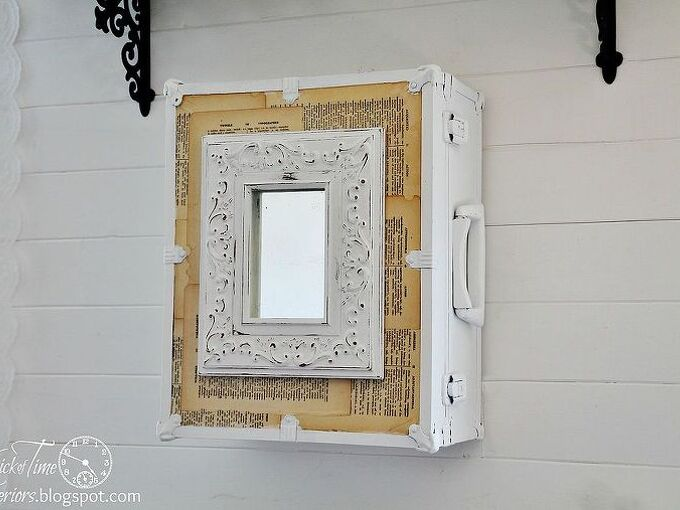 repurposed trunk into wall cabinet, cabinets, repurposing upcycling, Repurposed Roller Skates Trunk into Pretty Wall Cabinet