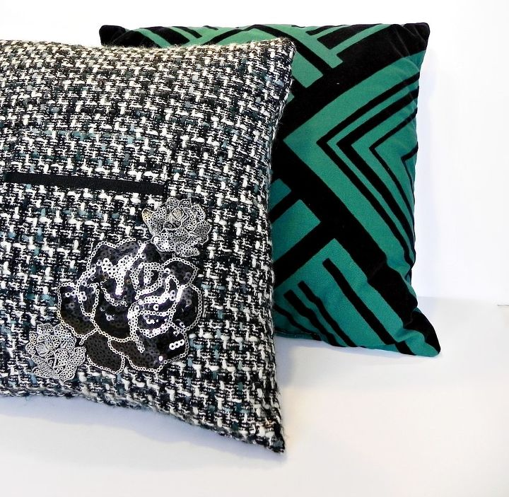 Looks great with my Goodwill pillow too!  http://www.madincrafts.com/2013/01/embellished-pillow-from-dollar-store.html