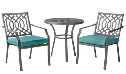 Small Front Porch Transformed With a Patio Bistro Set From Target ...