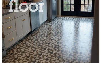 stencil your floor with our shipibo stencil, flooring, painting, shipibo stenciled floor with Cutting Edge Stencils