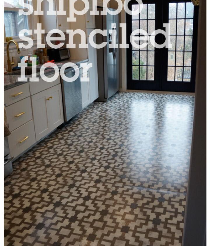 shipibo stenciled floor with Cutting Edge Stencils