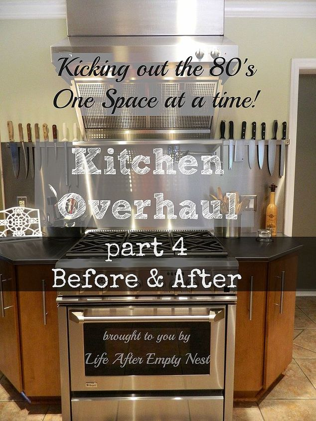 How did we end up with it looking like this? Please come see my 4 part series where you can see the mess from beginning to awesome end!http://www.lifeafteremptynest.com/2013/10/kitchen-overhaul-part-one-our-80s-horror.html