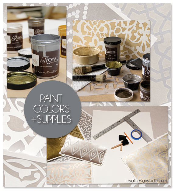 Our Royal Design Studio Stencil Cremes have the perfect iridescence to add a glamourous effect to these Moroccan Stencil art. http://www.royaldesignstudio.com/collections/stencil-cremes