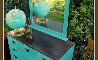 a kid ravaged dresser turned vintage school house style dresser, painted furniture, repurposing upcycling, The finished school house dresser