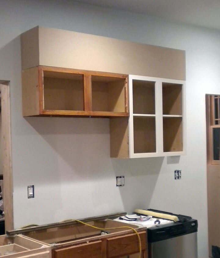 Step 1: Make the cabinets look taller.