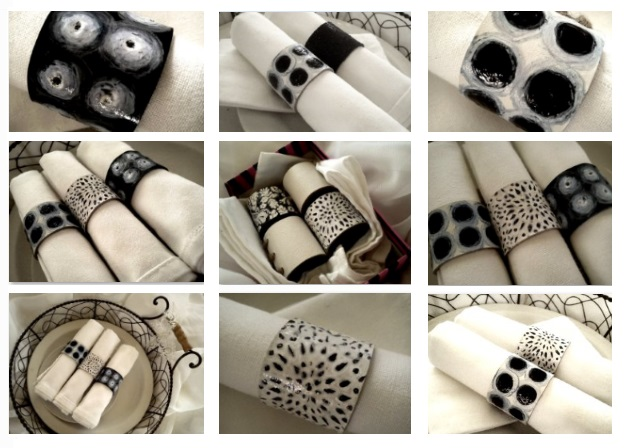 napkin rings, crafts, home decor