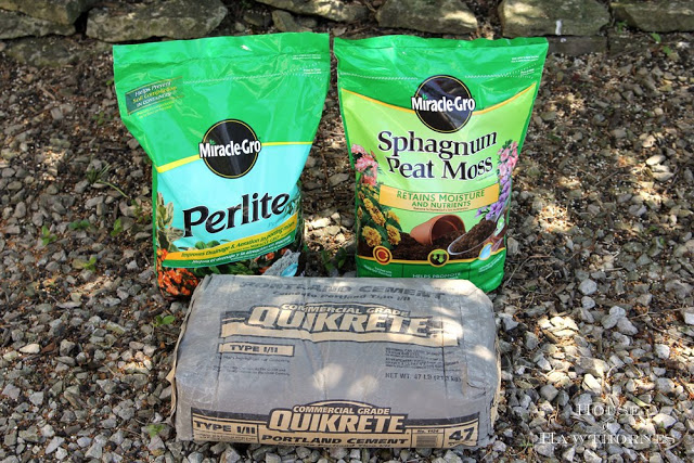 making lightweight hypertufa planters, container gardening, gardening, succulents, Perlite Sphagnum Peat Moss and Portland Cement and the main ingredients