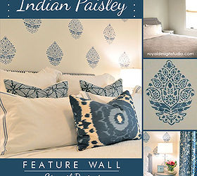 Stencil A Perfectly Pretty Indian Paisley Wall Pattern, Painting, Wall Decor,  Stenciling A