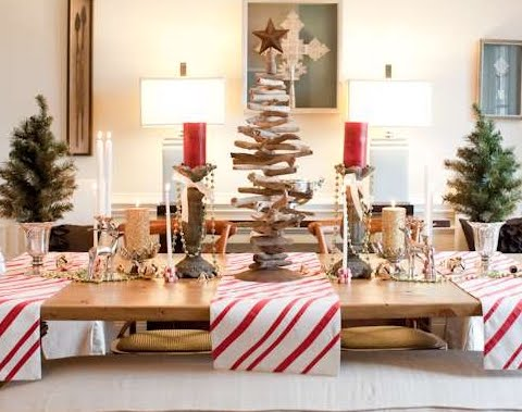 Driftwood Christmas trees -best alternative trees for those who love the sea.