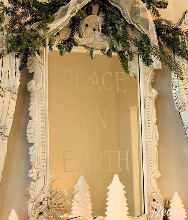 my peace on earth christmas mantel, seasonal holiday d cor
