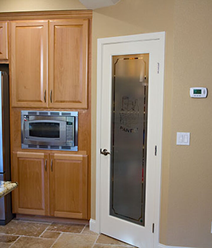 The new walk-in pantry was a great feature for needed storage.