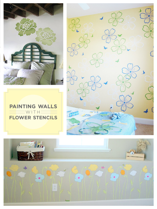 flower stencils convey different meanings, flowers, home decor, Paint your walls with flower stencils