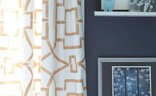 how to stencil curtains using the tea house trellis pattern, crafts, painting, reupholster, window treatments