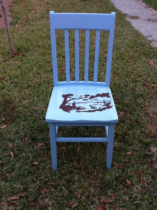 old chair re do, painted furniture