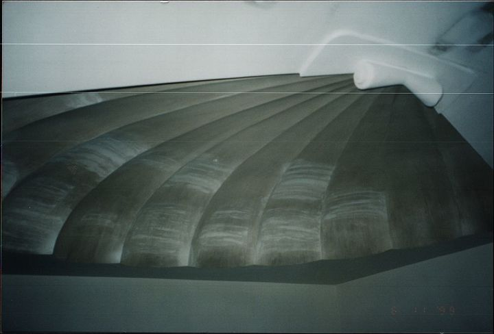 clamshell ceiling detail, this was over a staircase, it was painted in a pearlized paint.