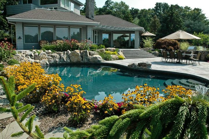 upgrading backyard can create completely different property, decks, landscape, outdoor living, patio, pool designs, spas, Patio Upgrades