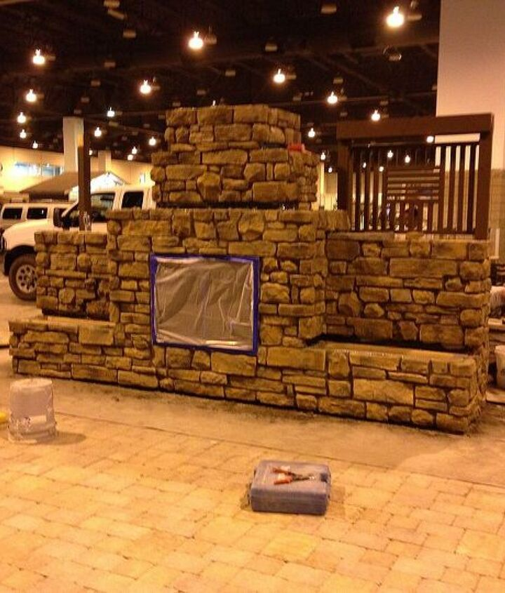 The outdoor kitchen will have a beautiful fireplace at Colorado Convention Center.