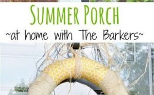 summer porch including diy sunflower wreath and new lantern lights, porches