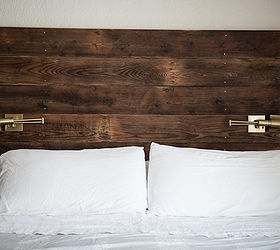reclaimed barn wood headboard and shelves hometalk rh hometalk com