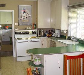 Spacious But Dead Green Laminate Counter Tops With Stainless Steel Edging  Sheet, Countertops, Flooring