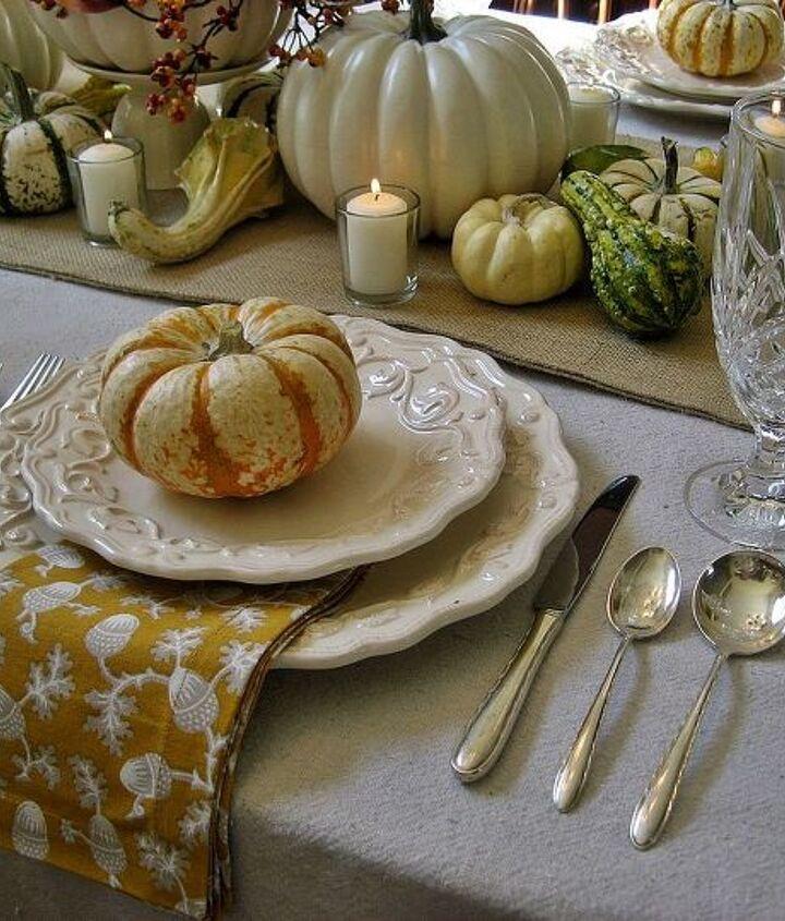 Simple tiger pumpkins top each plate.
