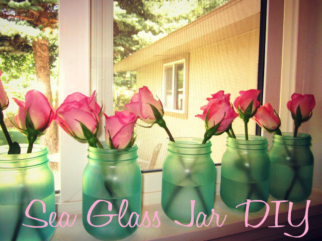 sea glass jar diy, crafts, mason jars