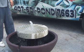 Unique Millstone Fountain Project in Orlando Area