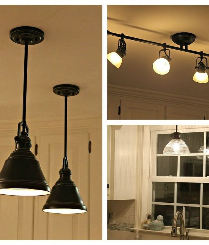 New light fixtures from Lowes Home Improvement, Allen & Roth brand