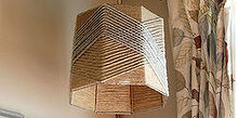 woven twine lampshade, crafts, home decor, Here are some final pics of my DIY
