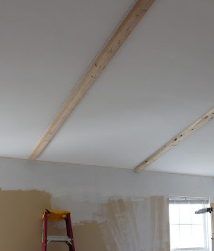 install faux wooden beams, home decor, woodworking projects