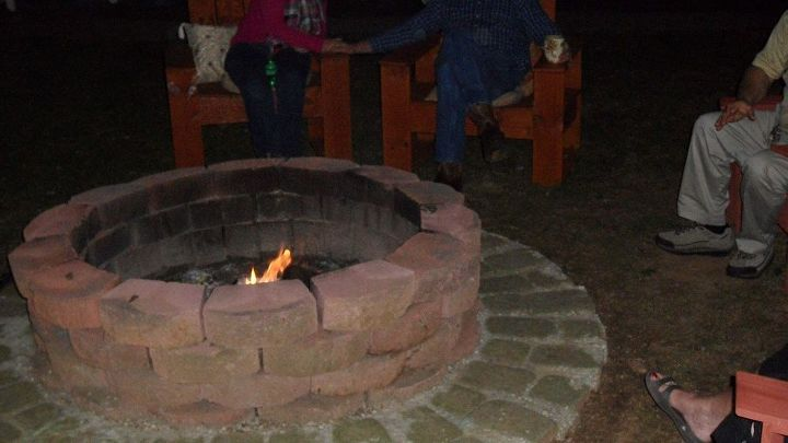 Backyard fire pit- great for cleaning up sticks from the yard