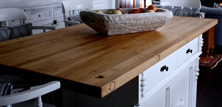 """detail of our island top refinished and branded with kents """"W"""" brand. That is also one of his sarved bowls To see more of his work: http://cynthiaweber.com/rustic-bread-boards-so-wonderful/"""