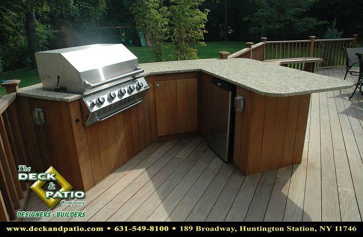 Ipe deck and outdoor kitchen
