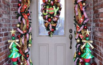 Our Whimsical Christmas Front Door 2013