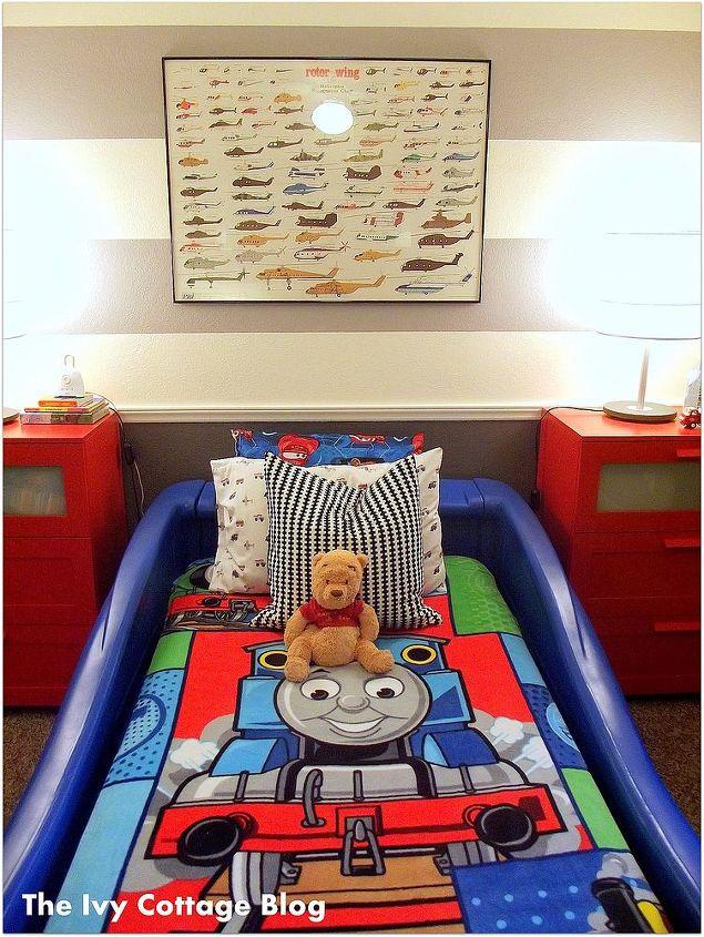 vroom vroom toddler room, bedroom ideas, home decor, The blue car bed