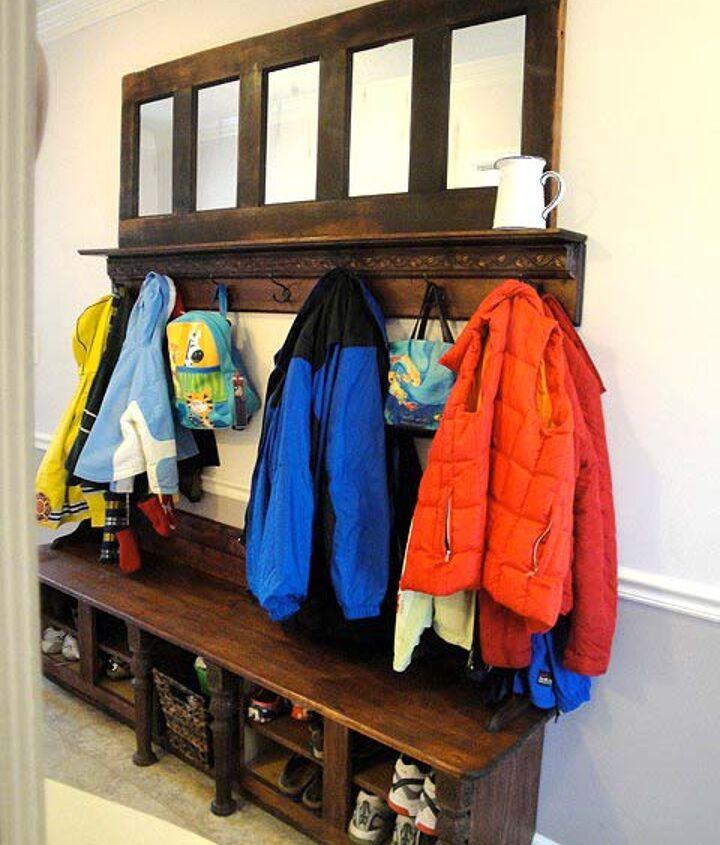Plenty of coat and backpack storage.