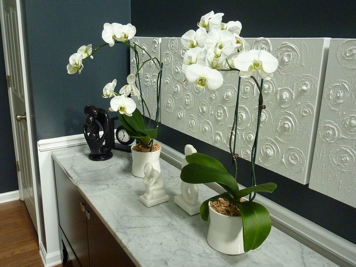 Orchids on the Foyer table