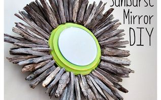 diy sunburst mirror, crafts, repurposing upcycling, woodworking projects