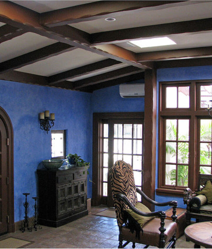 We modeled the beams on the ceiling after the original hand hewed beams in the adjoining room.