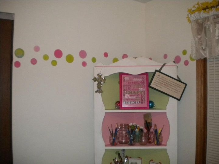 inexpensive craftroom makeover, craft rooms, home decor, painted furniture