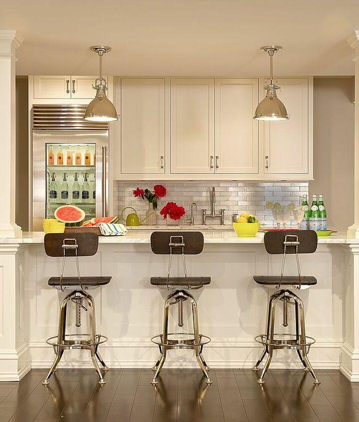 Kitchen in basement renovation by Titus Built, LLC