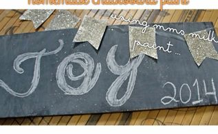 using mms milk paint as chalkboard paint, chalk paint, chalkboard paint, crafts, painting, Ta da works great and simple to make