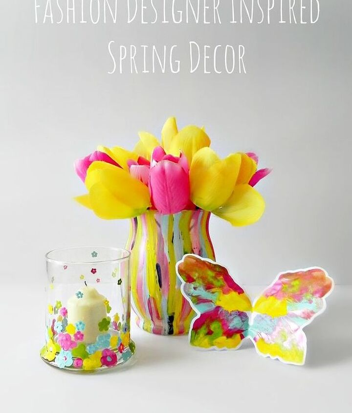 Spring decorations inspired by fashion designer Prabal Gurung  http://www.madincrafts.com/2013/02/fashion-designer-inspired-dip-dot.html
